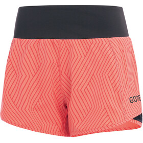 GORE WEAR R5 Shorts Women print coral glow/terra grey